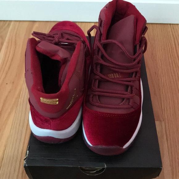 Nike Shoes Air Jordan 11 Velvet Heiress Red Wine Poshmark